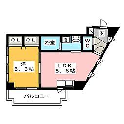 レイランド高宮[5階]の間取り