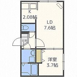 ジェンティーレ S8[4階]の間取り