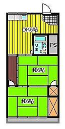コーポ丹野[2階]の間取り
