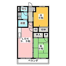 ロイヤルシティ豊田 A棟[4階]の間取り