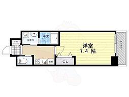 ファーストフィオーレ江坂レガリス 11階1Kの間取り