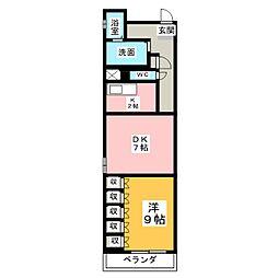 レインボー高蔵[2階]の間取り