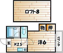 コーポロッキー[2階]の間取り