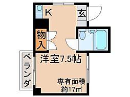 京都府京都市伏見区東浜南町の賃貸マンションの間取り