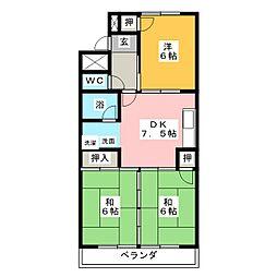 立石マンション[2階]の間取り