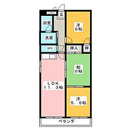 アンダンテ21北棟[2階]の間取り