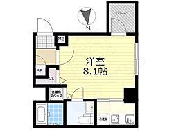 東武亀戸線 亀戸水神駅 徒歩9分の賃貸マンション 9階1Kの間取り