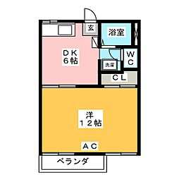 ハイツサンシャイン S棟[2階]の間取り