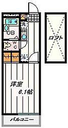 埼玉県さいたま市桜区神田の賃貸アパートの間取り