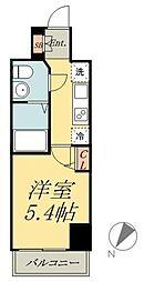 京成本線 堀切菖蒲園駅 徒歩3分の賃貸マンション 9階1Kの間取り