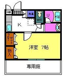 大阪府八尾市高安町北1丁目の賃貸アパートの間取り