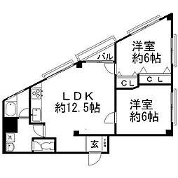 ニューハイム松戸[4階]の間取り