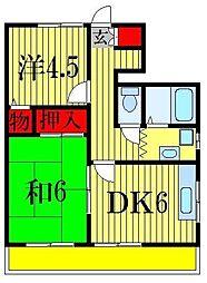 フキハイツ[3階]の間取り