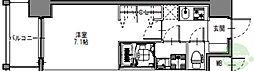 S-RESIDENCE三国WEST 8階1Kの間取り