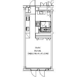 JR京浜東北・根岸線 大宮駅 徒歩10分の賃貸マンション 5階ワンルームの間取り