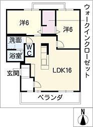 PrimeCourtKani[2階]の間取り