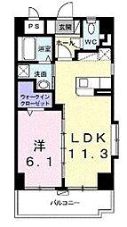 エテルノ アロッジオ 801号室沖縄県沖縄市高原1-2-7 8階1LDKの間取り