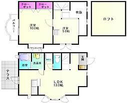 福岡県春日市平田台5丁目の賃貸アパートの間取り