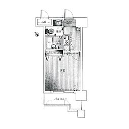 ダイナコートエスタディオ平尾[4階]の間取り