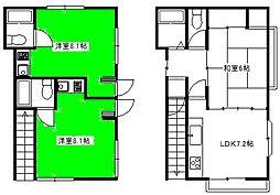 砂新田アパート[1階]の間取り
