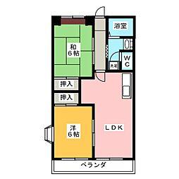 エステートヤマキ[5階]の間取り