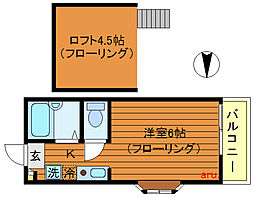 東京都三鷹市井の頭5丁目の賃貸アパートの間取り