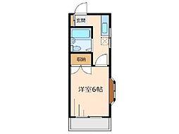 コーポヤナギ[1階]の間取り