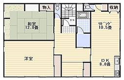 [テラスハウス] 神奈川県逗子市久木8丁目 の賃貸【/】の間取り