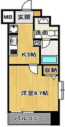 ミリアビタNo15[8階]の間取り