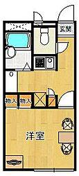 レオパレスアクティ3[201号室]の間取り