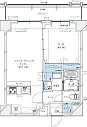 レジデンツア西神奈川[702号室号室]の間取り