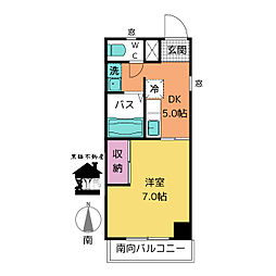 西日置マンション[5階]の間取り