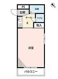 ハイツHARADA[2階]の間取り