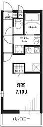 京王線 多磨霊園駅 徒歩8分の賃貸マンション 1階1Kの間取り