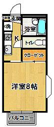 茨城県つくば市花畑2丁目の賃貸アパートの間取り