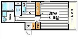 パレ・クレール[5階]の間取り