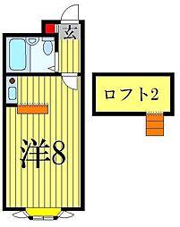 ベルピア北松戸1-1[2階]の間取り