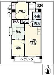 サフィニアMI[2階]の間取り