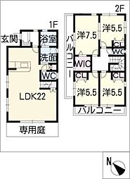 [一戸建] 愛知県名古屋市千種区豊年町 の賃貸【/】の間取り