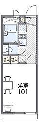 大阪モノレール本線 南摂津駅 徒歩21分の賃貸アパート 1階1Kの間取り
