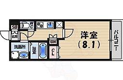 AMARE 甲東園 3階1Kの間取り