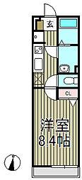 リブリ・材木座[2階]の間取り