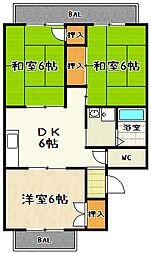 シャルムKSKI[203号室]の間取り