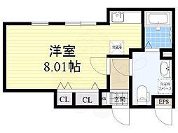 名古屋市営桜通線 桜山駅 徒歩4分の賃貸マンション 4階ワンルームの間取り