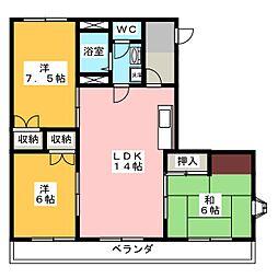 ドミールハッタ[2階]の間取り