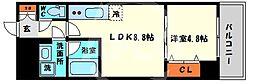 レオンコンフォート本町橋 8階1LDKの間取り