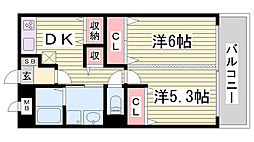 兵庫県神戸市長田区菅原通7丁目の賃貸マンションの間取り