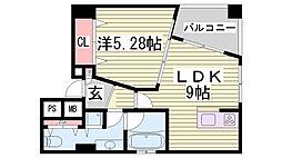 POCO A POCO 三宮ハイタワー[1001号室]の間取り