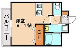 エンクレストベイ天神東3[6階]の間取り