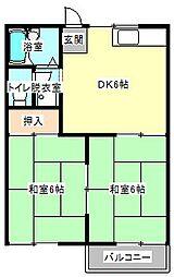 ドミールマサA[2階]の間取り